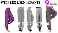 Cheap HOT!! Woman Unique Wide Leg Aqua Yoga Palazzo Gaucho Boho Casual Yoga Lounge Pants Western Muslim Harem 9 Colors Sz:: L XL XXL