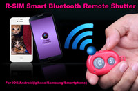 Wholesale R SIM Smart Bluetooth Remote Shutter photo Camera Control Self timer AB Shutter For iOS Android for iphone for Samsung Smartphone