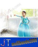 Cheap free shipping NEW Frozen clothes Romance elsa princess dress Elsa & Anna dresses Costume kids girls Blue Dress party dreeese MYY9720