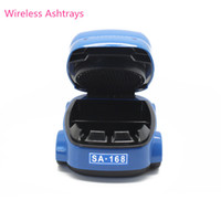 Wholesale 2PCS Portable Mini Car Model USB Automatic Removable Ashtray New Air Purifier With Plastic Hot Selling