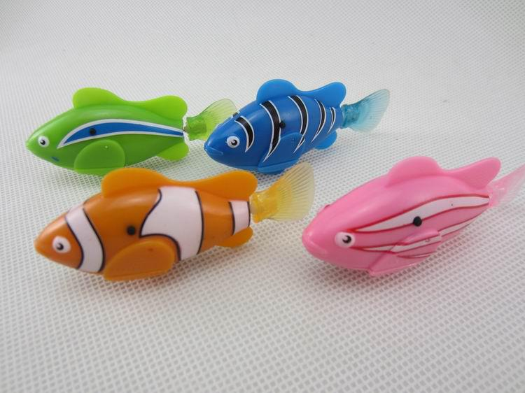 Epack happy fish robot fish e fish toys swimming for Robot fish toy