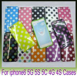 Soft Polka Dot Dots TPU Gel Case Cover Skin For Apple iPhone6 plus 4.7 5.5 inch I6 6G iphone5 5s 5c