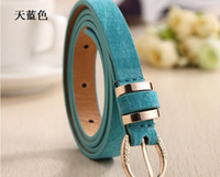Wholesale Whole and Retail Straps of PU Leather Womens Pink Black White Brown Red Orange Colors Lady Belt Fashion New All Match WB001