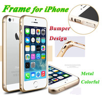 arc gold - Top Selling Metal Phone Case for iPhone S C S Bumper Cover Case Circular Arc Aluminum Metal Frame Ultra Thin mm Bumper Cover Case