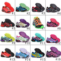 Wholesale 18Colors Salomon Running shoes women s Salomon Speedcross Athletic Running Sports Man Shoes Outdoor