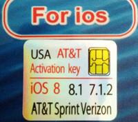 Wholesale SUPPORT newest IOS S Genuine GPP Sim AUTO Unlock iPhone iphone4s Sprint Verizon R SIM