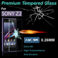 Wholesale 0 MM Premium Tempered Glass Film Cover Explosion Proof D LCD Screen Protector For Sony Xperia Z L36H Z1 L39H Z4 Z4G with Retail Package