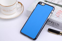 apple skin fiber - Carbon Fiber Football Leather Luxury Skin Hard Chrome Electroplate Metallic back cover case cases for Iphone G iphone6 Plus