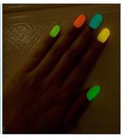 20 7ml couleur fluorescente Neon Nail Polish Luminous Glow in Dark vernis à ongles Nail Enamel expédition gratuite
