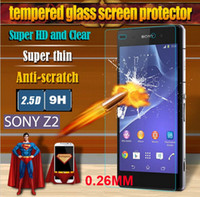 Wholesale Free DHL For Sony Xperia Z L36H Z1 L39H Z2 Z3 Premium Tempered Glass Film Explosion Proof with Round Edge LCD Screen Protector Retail Pack