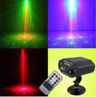 3w led red - 40 Pattern W Stage Laser Light LED Show Projector Red Green AC V Washer Light DJ Lighting Light For KTV Bar PARTY Supplies