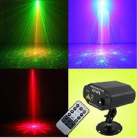 Wholesale 40 Pattern Color W Stage Laser Light LED Show Projector Red Green AC V Washer Light DJ Lighting Light For KTV Bar PARTY Supplies