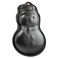 Wholesale Non Stick Teflon Cake Pan Christmas Snowman Pie Platter Dish Baking Tools Mold Oven Tray