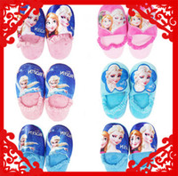 Wholesale 2014 Cotton kawaii Slippers with tie Frozen Princess Keeping Warm Comfortable Winter Must have Home Suitable wear