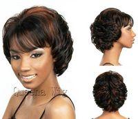 heat resistant hair - Premium Heat Resistant synthetic hair wig medium length curly wigs for black african american women