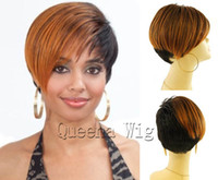 african american hair - Excellent synthetic hair wigs short straight wig style for african american women natural looking wigs perucas pelucas