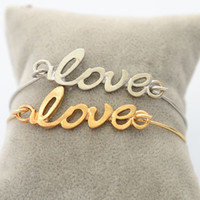 Wholesale New Fashion jewelry love word thin bangle for women girl B863