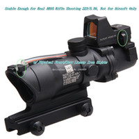 Wholesale Shipfree Tactical Hunting Shooting Trijicon ACOG x32 Red Optical Real Fiber RMR Mini Red Dot Rifle scope