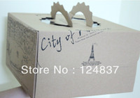 Wholesale 26 cm party wedding cake Box single cupcake boxes with Neto Kraft paper box cake decorating tools for the cakes
