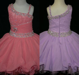 Crystal Beaded Ruffles belt cupcakes infant mini skirts party formal occasion ball gown girl pageant dresses Little Rosie short dress