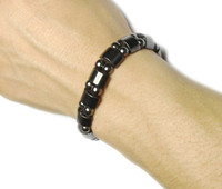 Cheap Wholesale-Radiation protection, Health Black stone Tourmaline unisex bracelet, good gift to friends, family and lover