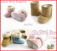 infant winter shoes - New Fahion Infant boys girls toddler baby boots shoes UK infant snow boots Boys Girl Warm Winter Snow Shoes Boots Colors choose