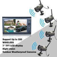 Wholesale CCTV Digital Wireless DVR Security System with Inch LCD Monitor SD Card Recording and Long Range Night Vision Cameras