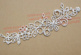 Wholesale pc cm flower butterfly clear crystal rhinestone applique trims bridal dress costume stage garment sewing