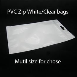 Acheter en ligne Sac de rangement clair-Transparent + perle blanche Plastique Poly OPP fermeture à glissière Fermeture à glissière Vente au détail Forfaits Bijoux en plastique Sac en plastique PVC 7.5 * 12cm 10 * 18cm 12 * 15cm 12 * 20cm