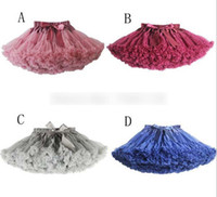Wholesale New Hot Colors Vintage dusty pink Silver gray Wine Navy blue Baby Girl Fluffy Pettiskirt Girls Tutu Skirt Kids Petticoat A4845