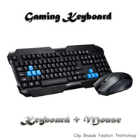 Cheap boys best gift cool gaming keyboard Free shipping USB interface wired waterproof keyboard+mouse game suits KKK52