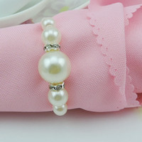 Wedding Napkin Rings - White Pearls Napkin Rings Hotel Wedding Accessories Table Decoration Accessories
