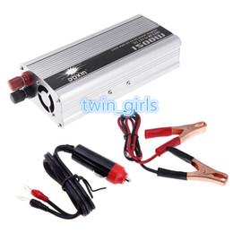 Wholesale - Portable Car Charger 1500W WATT DC 12V to AC 110V 50 Hz Car Power Inverter Converter Transformer Power Supply K1309