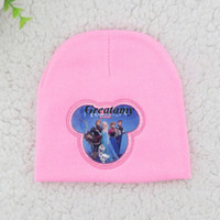 Wholesale New arrive frozen kids knitted hat olaf elsa anna all frozen figures printed children Crochet caps child girls boys winter warm hats