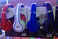Acheter Rue sms via un casque d'oreille-SMS Audio SYNC Wired STREET par 50 Cent Casque Noir Blanc Bleu Over-Ear Headphones Wired