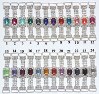 Wholesale colors Rhinestone Connector For Swimming Wear Bikini Buckle Invitation Buckle Bag Buckle BKYM01030