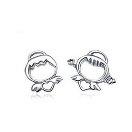 Wholesale iice fashion angel baby different shapes of solid silver sterling silver earrings jewelry sale