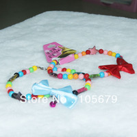 beaded dog leads - C011 Colorful Beaded Bracelet with Bow Dog Necklace Jewellery Pet Collars Pet Products pc