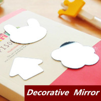 Wholesale 20 Cartoon Decorative mirror for phone stationery scrapbooking Novelty households office material School supplies