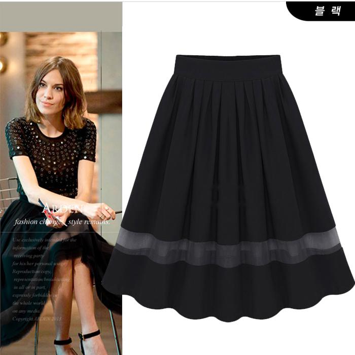 Online Cheap 2014 Summer Fashion Midi Tulle Skirt Women High Waist ...