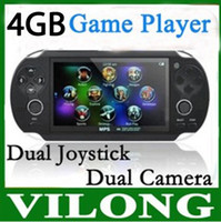Wholesale New GB Handheld Game mp5 Player mp3 Player mp4 Player With Dual Joystick Camera FM TV Out Portable shock Game Console