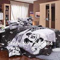 Wholesale Kids cartoon pc mickey mouse comforter sets quilt pc duvet sets in a bag king queen twin size mickey mouse bedding sets