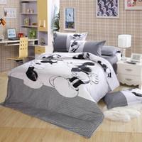Wholesale Mickey Mouse bedding set pc bedclothes Cotton Duvet Comforter Quilt Cover bed linen sets king queen twin size