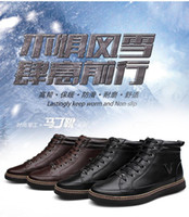 Wholesale Winter yards high to help men in cowboy boots casual British fashion men s leather hiking shoes tide