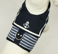 apparel clothing store - Dog Clothes Pet Dog Navy Vests with Harness Leash Pothook Button Dog Apparel Mix Sizes XS S M L baby face store