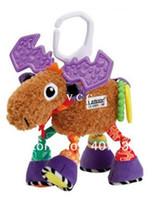 Cheap David's deer 30pcs 10.2'' 26cm super cute multifunctional Pere antelope brown lamaze bed hang bell baby toys