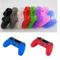 Cheap DHL Free shipping Colorful Soft Silicone Gel Rubber Case Game Accessories Skin Grip Cover For SONY Playstation 4 PS4 Controller