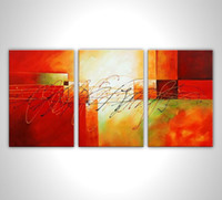 Cheap 100% hand painted discount abstract 3 panel canvas art oil painting framed wall art modern sets cnude african art om008