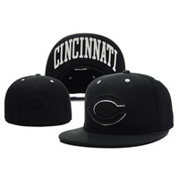 sports team hats - Black Reds Fitted Caps New Arrival Size Caps Sports Team Hats Best Quality Flat Caps Top Hats for Men and Women Cool Fitted Hats Mix Order