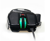 Wholesale DHL Bazalias X1 Laptop Gaming Mice M X Gold Plated DPI Button USB Wired Green Red LED Optical Games Mouse